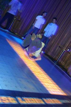 Palms Dance Floor Break Dance