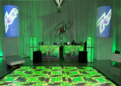 7-Up Floor and Booth