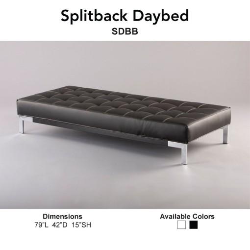 Splitback Daybed Black