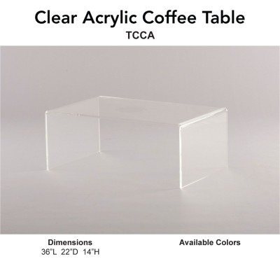 14 Coffee Table - Clear Acrylic Main