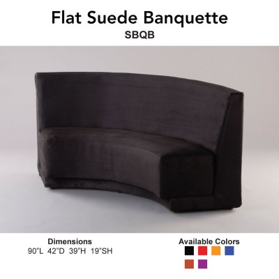 16 - Banquettes - Flat Suede Main