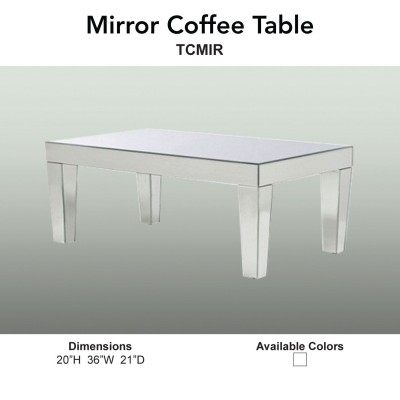 17 Coffee Table - Mirror Main