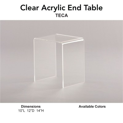 18 End Table - Clear Acrylic Main