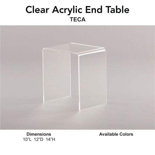 18 End Table - Clear Acrylic Main
