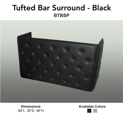 2 Bars - Black Tufted Bar Surround Main