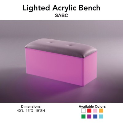 20 Geo Lighted  - Bench Seats