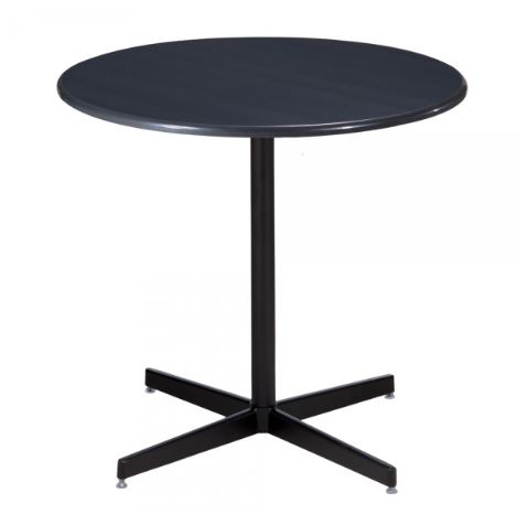 Blue Cafe Table with black base