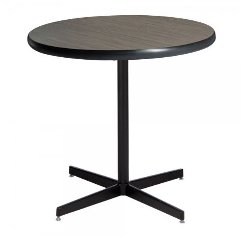 Madison Brown Cafe Table with black base
