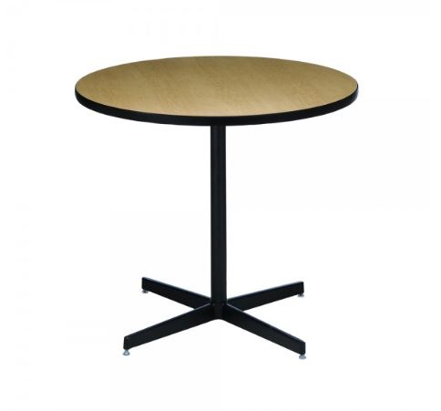 Maple Cafe Table with black base