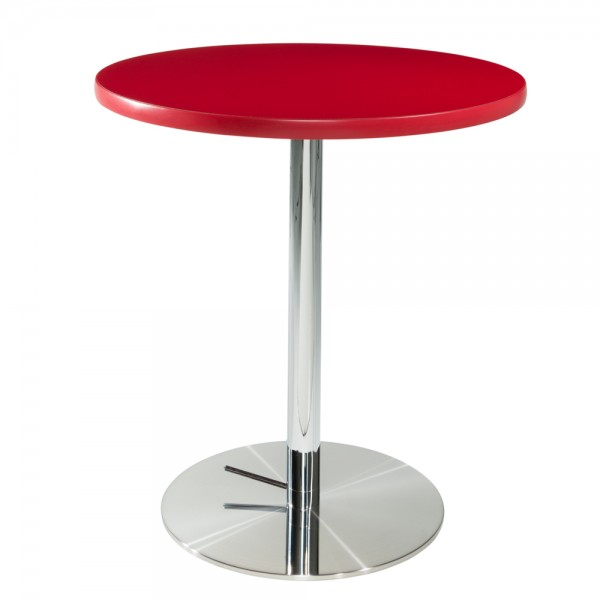 Red Cafe Table w/Chrome Base