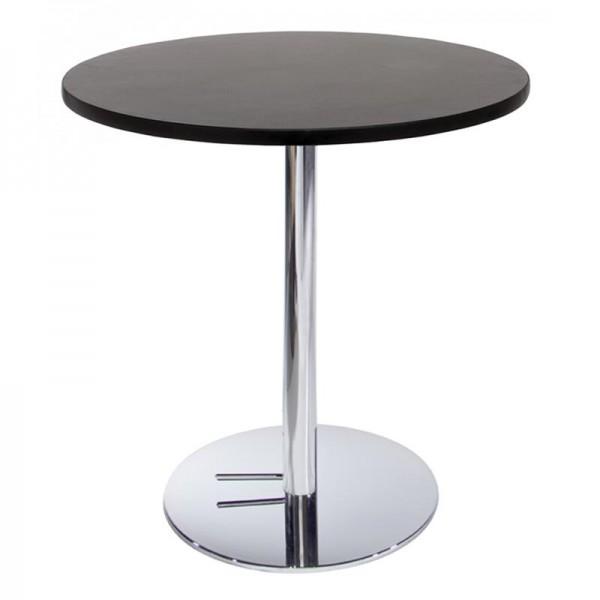 Graphite Cafe Table w/ Chrome Base