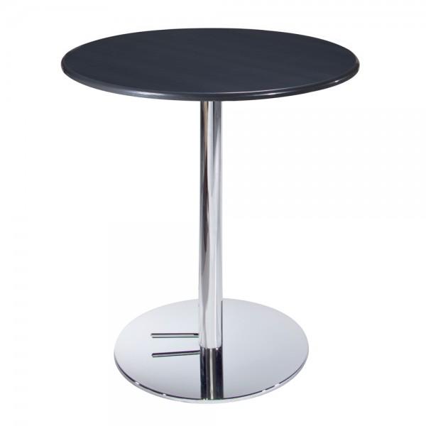 Blue Cafe Table w/Chrome Base