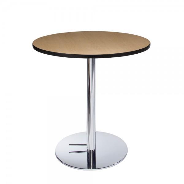 Maple Cafe Table w/Chrome Base