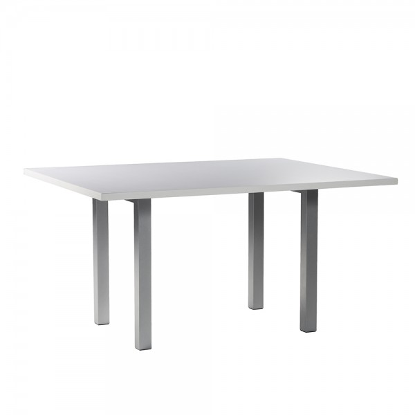 5' Rectangle Conference Table White