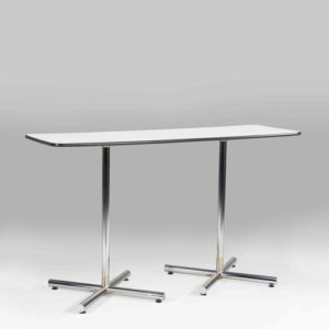 6 FT RECTANGULAR WHITE BAR TABLE