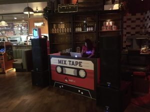 Mix Tape Booth and Speakers