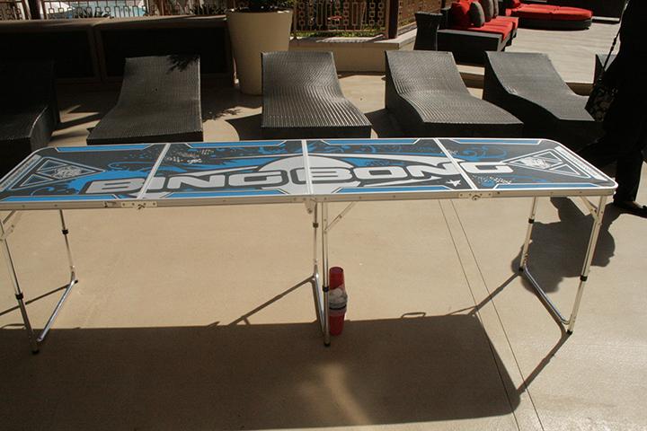 Beer Pong Rental - Blue Table side