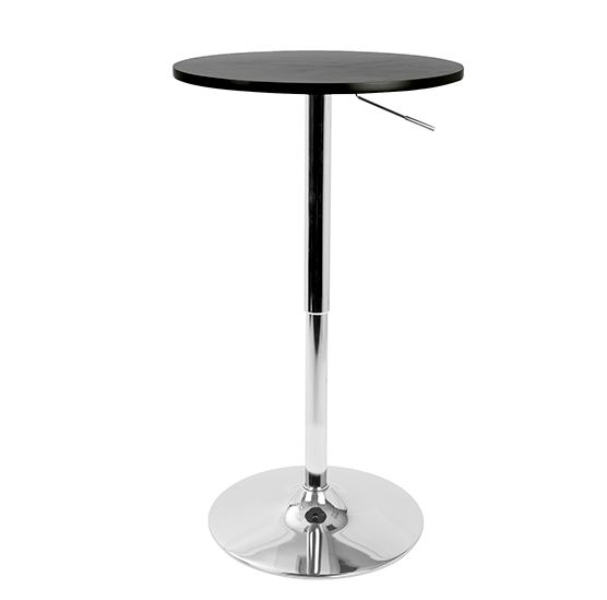 Black Top Pedestal Bar Table