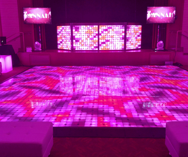 Dance Floor and DJ booth Scene