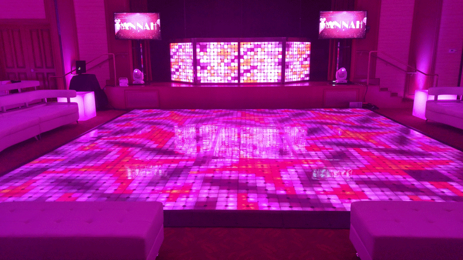 Dance Floor and DJ booth Scene