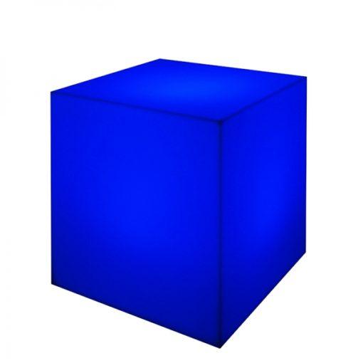 EDGE LED LIGHTED CUBE blue