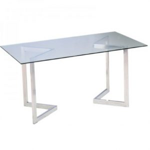 Geo Conference Table w/chrome base