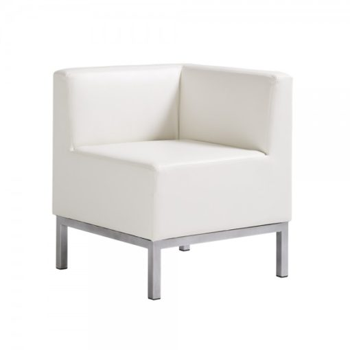 Heathrow Corner Chair White