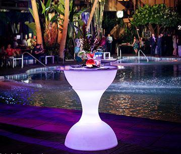 Hourglass Pub Table