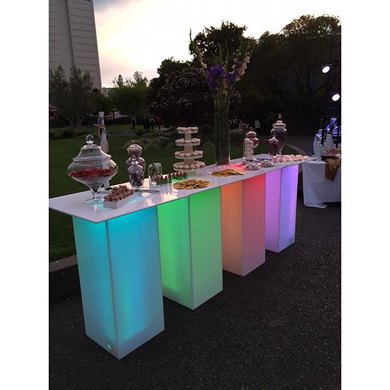 LED Acrylic High Top Table 2