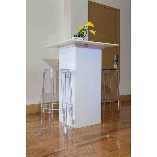LED Acrylic High Top Table 4