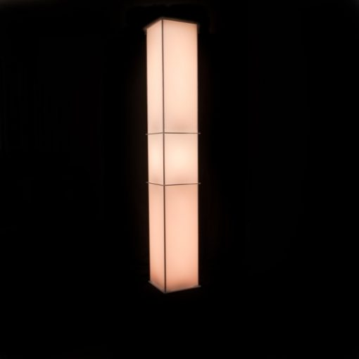Luna Lighted Column 104in yellow