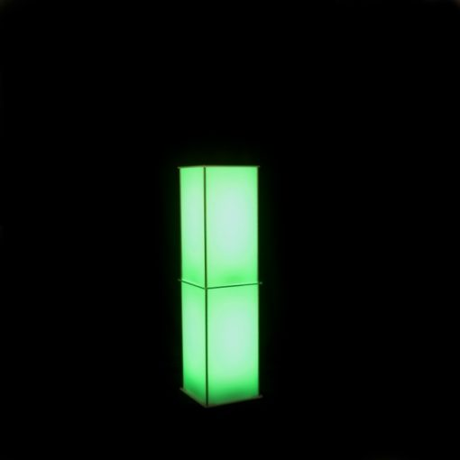 Luna Lighted Column 60in color green