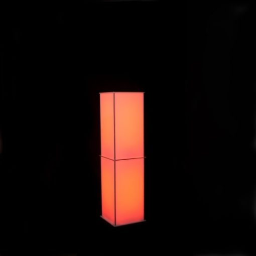Luna Lighted Column 60in color orange