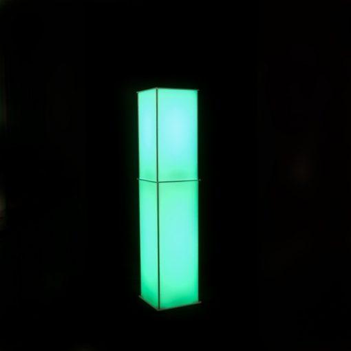 Luna Lighted Column Trans Green