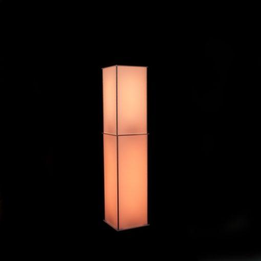 Luna Lighted Column Trans Orange