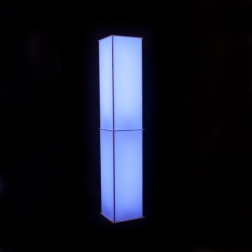 Luna Lighted Column blue