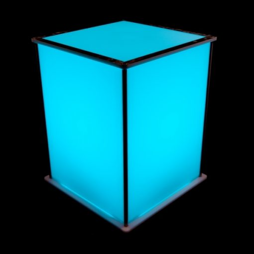Luna Lighted Pedestal 20in blue