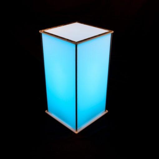 Luna Lighted Pedestal 30in blue