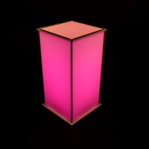 Luna Lighted Pedestal 30in pink