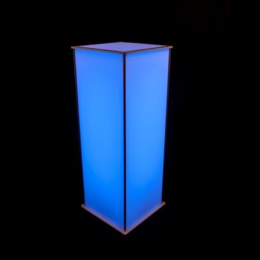 Luna Lighted Pedestal 42in blue