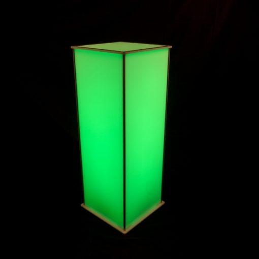 Luna Lighted Pedestal 42in green