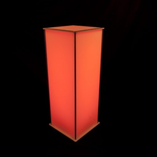 Luna Lighted Pedestal 42in orange