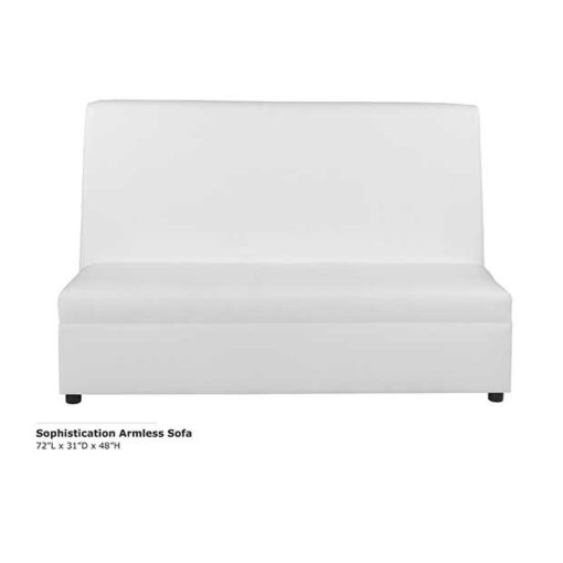 Sophistication Armless Sofa