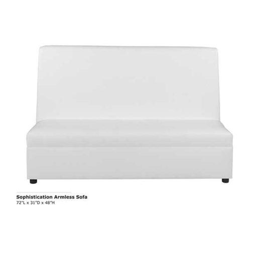 Sophistication Armless Sofa