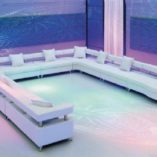 VIP Modular Lounge White U Shape