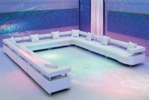 VIP Modular Lounge White U Shape
