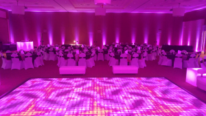Wireless RBGAW LED Lights and Dance floor
