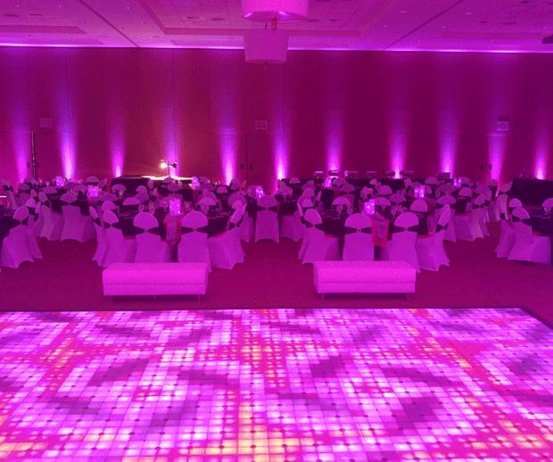 Wireless RBGAW LED Lights and Dance floor