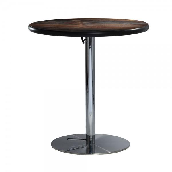 "30"" Round Cafe Table w/ Hydraulic Chrome Base"