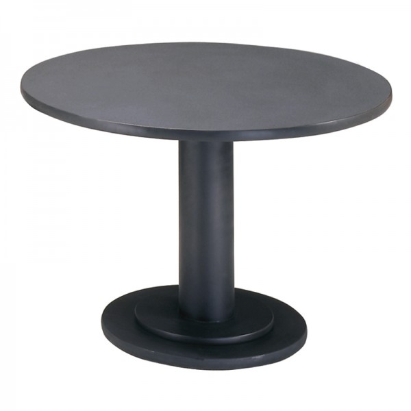 Circular Conference Table - Graphite top w/black base